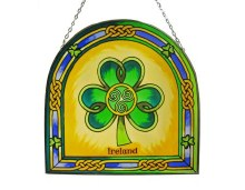 The Shamrock Stained Glass Arch Panel