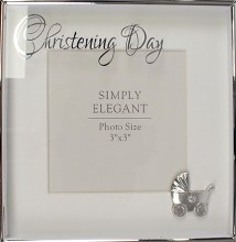 34915 Christening Photo Frame with Pram Icon