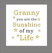 Granny Light Up Your World Plaque