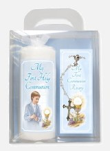 Boy First Holy Communion Candle