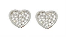Heart Pendant and Earring Set for First Holy Communion