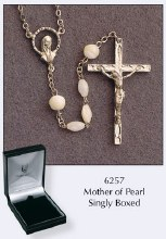 Mother of Pearl Rosary Beads