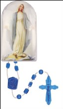 Plastic Corded Rosary - Miraculous