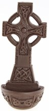 Celtic Cross Holy Water Font