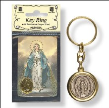 Miraculous Keyring with laminated leaflet