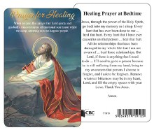 71910 Prayer For healing Laminated Prayer card