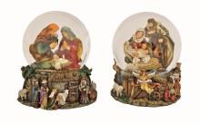 10012118 Musical Nativity Scene Waterball 21cm