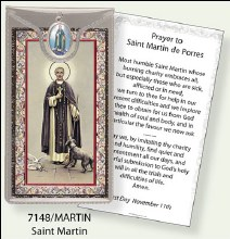 St Martin Prayercard and Medal