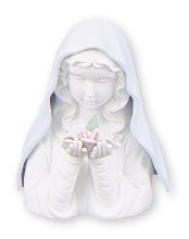 Ceramic Blue Madonna with Light (15cm)