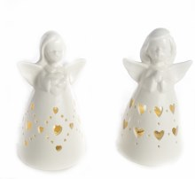 8905 Porcelain Angel with LED 12cm