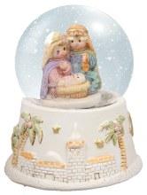 Woven Childrens Nativity Waterglobe (8cm)