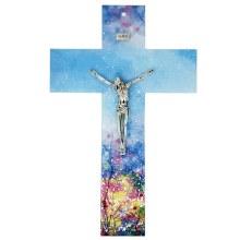 Enchanted Landscape Murano Glass Cross (47cm)