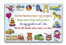 God in Heaven Hear My prayer plaque