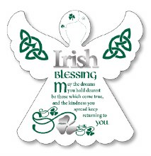 Irish Blessing Wooden Angel Plaque