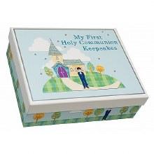 Blue First Holy Communion Keepsake Box