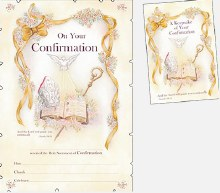 Confirmation Certificate with Keepsake Book