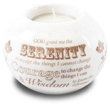 87791 Serenity Porcelain Tealight Holder