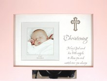 Pink Wood Musical Christening Keepsake Box