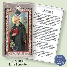 St Benedict Prayercard and Medal