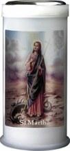 St Martha Pillar Candle