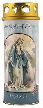 Our Lady of Grace Pillar Candle