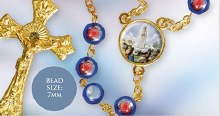 Blue Fatima Rosary Beads