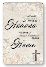 Heaven Home Laminated Prayer Leaflet
