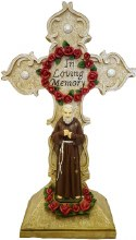 Padre Pio with Cross (45cm)