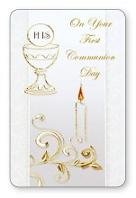 Symbolic First Holy Communion Prayercard