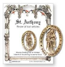 St Anthony Metal Brooch