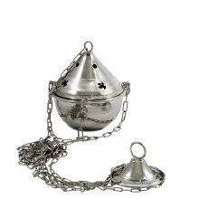 Nickel Thurible (15cm x 9cm Diameter)
