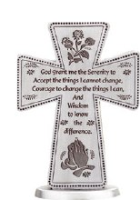 Serenity Prayer Pewter Cross (8cm)