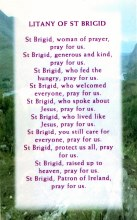 Litany of St Brigid Prayer Card