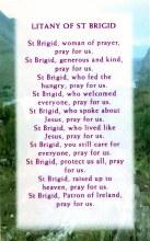 Litany of St Brigid Prayer Card