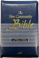 New Community Bible, Pocket, Deluxe Zipped Blue
