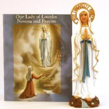 Lourdes Novena Booklet and Statue Set (10cm)