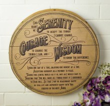 Serenity Wood Prayer Plaque (38cm)