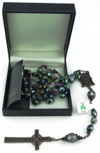 W71326 Green Book of Kells Rosary Beads