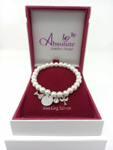 HCB304 First Holy Communion Pearl Charm Bracelet