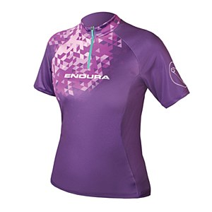 Endura Singeltrack II Short/ Sleeve Jersey Purple