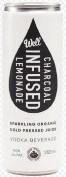 1C Well Juice Vodka Lemonade Charcoal -355ml