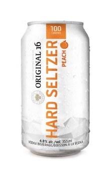 6C Original 16 Hard Seltzer Peach