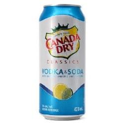 1C Canada Dry Vodka & Soda -473ml