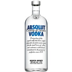 Absolut Blue Vodka -  1750ml