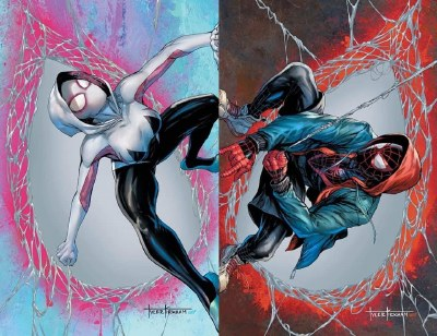 Amazing Spider-Man #59 & Miles Morales #23 Connecting Virgin Variant Set