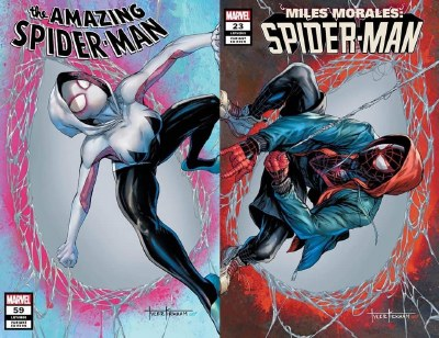 Amazing Spider-Man #59 & Miles Morales #23 Connecting Trade Dress Variant Set