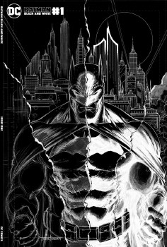 Batman Black and White #1 Tyler Kirkham Cover B Minimal Trad