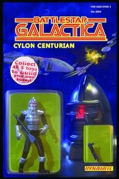 Battlestar Galactica Vol 3 #4 (Of 5) Cvr B Adams Action Figu