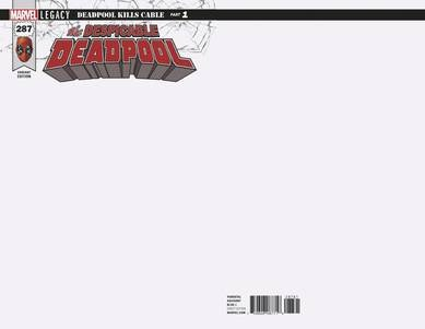 Despicable Deadpool #287 Blank Var Leg