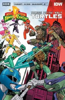 Power Rangers Teenage Mutant Ninja Turtles #2 Cvr A Mora (C: